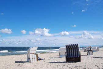 Strand bei den Hotels Usedom